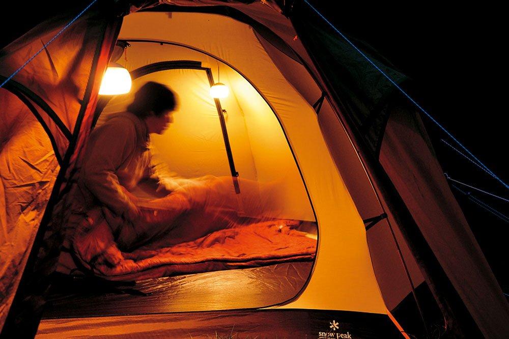 Snow Peak Hozuki LED Candle Lantern, White/Orange by Snow Peak (Image #4)