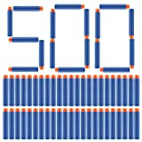 D-FantiX Dart Refill pack of 500 Round Head 7.2cm Soft EVA Foam Bullets for Nerf N-strike Elite Series Gun Toy