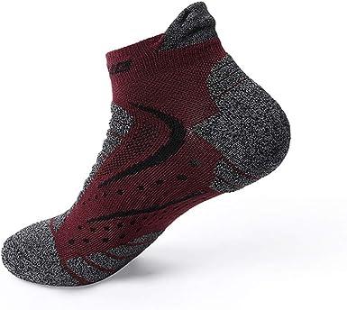 Qiujiam Calcetines de running, hombre y mujer, zapatillas y calcetines deportivos, calcetines transpirables, calcetines de senderismo para adultos (paquete de 3): Amazon.es: Ropa y accesorios