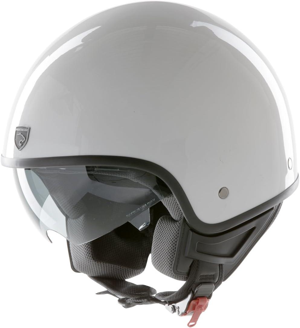 Panthera casco de moto full jet Vintage blanco brillante talla L