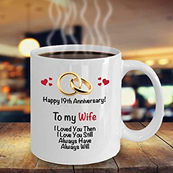 Amazoncom 19th Anniversary Gift Ideas For Wife 19th Wedding