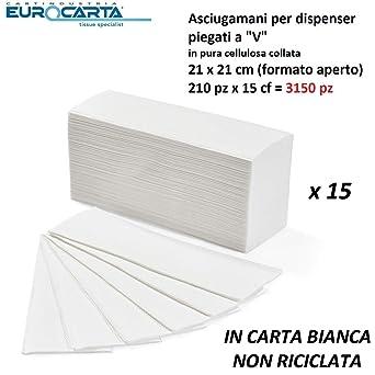 toalla de papel desechables para dispensador 2 Velos Doblado A Z (Cartón 3750 toallas) Yamaha