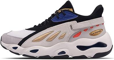 LI-NING NYFW AGLN069 - Zapatillas de senderismo para hombre, diseño de mariposas, Blanco (Negro Blanco), 40.5 EU: Amazon.es: Zapatos y complementos