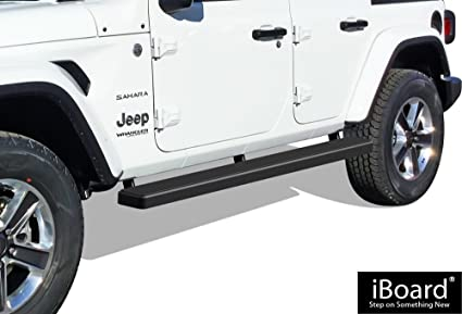 Amazon Com Aps Iboard Running Boards 5 Matte Black Custom Fit 2018