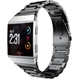 Senter para Ionic Band,Stainless Steel Strap Wrist Band Replacement Band Compatible para Fitbit Ionic Smart Watch