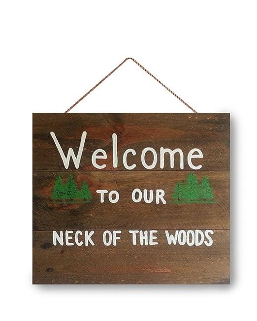 Cartel de bienvenida, cartel rústico de cabina, cartel de ...