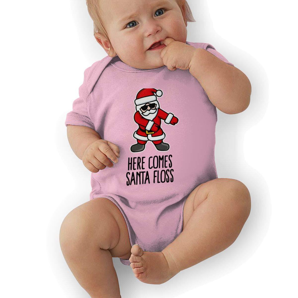 BONLOR Santa Floss Dance Baby Boys Girls Jumpsuit Overall Romper Bodysuit Summer Clothes Pink