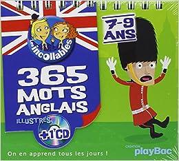 365 mots illustrés des Incollables - ANGLAIS 7-9 ans (1CD audio)