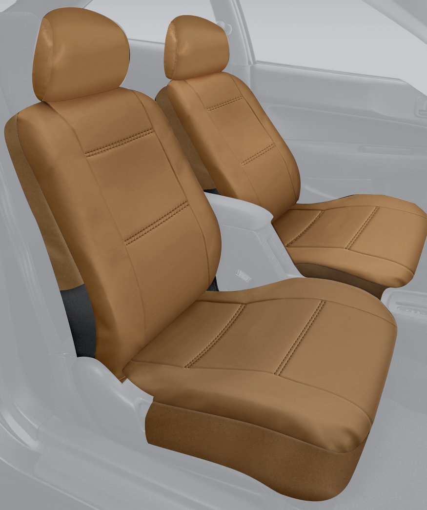 Leatherette Fabric Saddleman Front Bench Custom Made Seat Cover Tan S 77964-09
