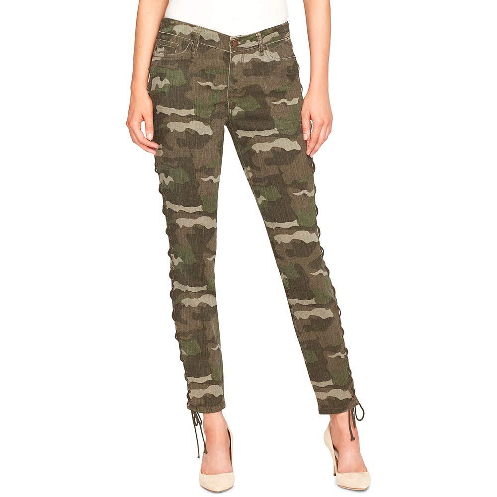 William Rast LaceUp Camo Skinny Jeans Green Camo Size 25
