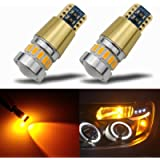 KISLED Newest 12-24V Super Bright 194 912 921 168 175 2825 W5W T10 LED Bulbs with Projectors for Side Marker Cargo High…