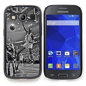 "Qstar Arte & diseño plástico duro Fundas Cover Cubre Hard Case Cover para Samsung Galaxy Ace Style LTE/ G357 (Baloncesto de la vendimia"")"