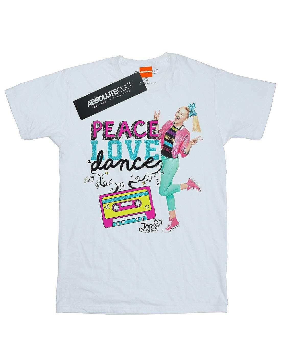 Absolute Cult JoJo Siwa Girls Peace Love Dance T-Shirt