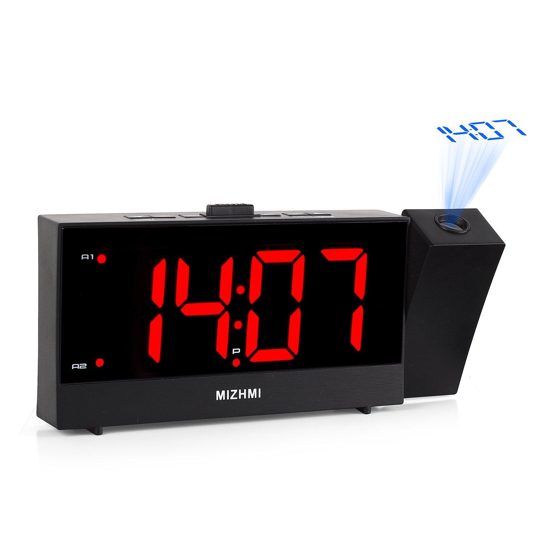 Amazoncom MIZHMI Projection Alarm Clock Dual Alarm