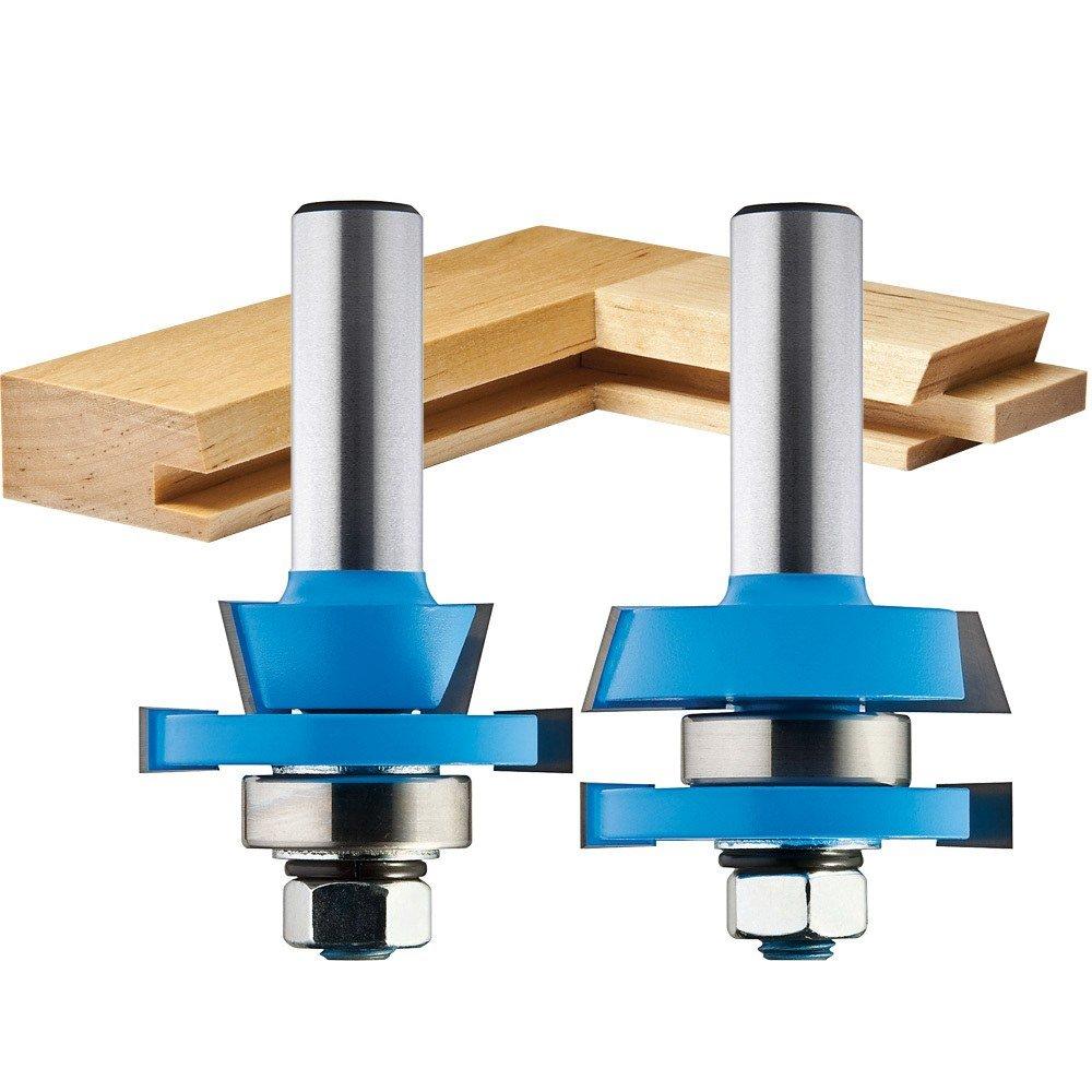 2-Piece Rail/Stile Shaker Cutter Bit Set - Door And Window Router Bits - Amazon.com