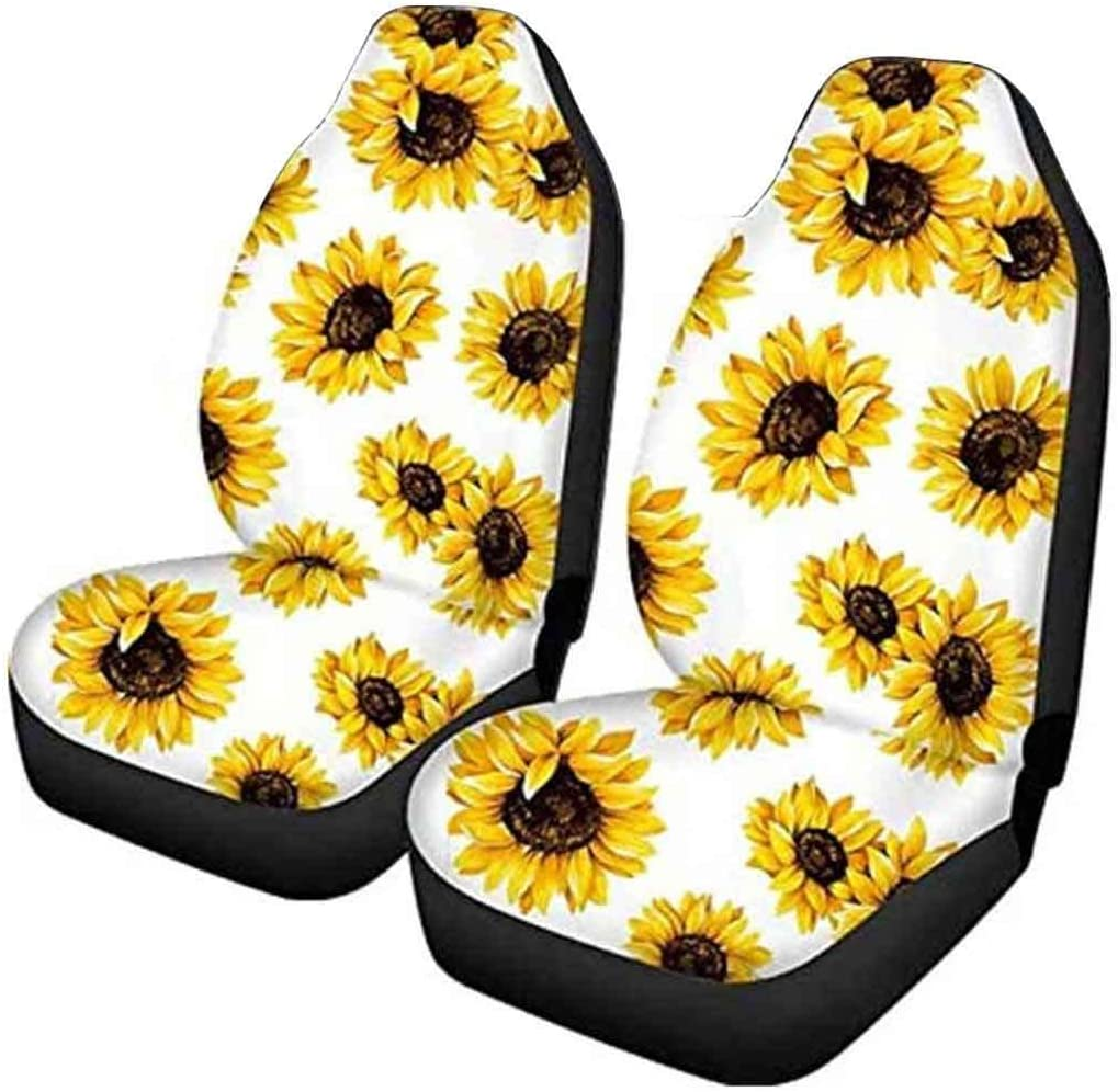Van Dreamcatcher Pattern SUV Fit Most Cars Sedan LedBack Totem Horse Border Printed Car Seat Cover Pack of 2 Front Saddle Blanket Comfort Covers Vehicle Seat Protector Car Mat Covers