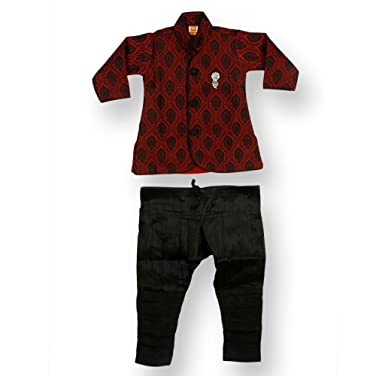 987af8a9ad2ae NeedyBee Baby Boys Clothes Festival Sherwani Churidar Breeches Silk Ethnic  Wear Kids Dress Set for 3 Months - 2 Years: Amazon.in: Clothing &  Accessories