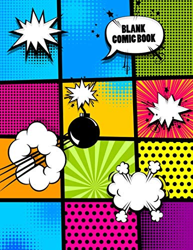 Blank Comic Book: Nifty Cute Multi Template Panelbook to Draw and Create Your Own Comics. Perfect Superhero Gift for Christmas with a Variety of Templates for Comic Book Drawing and Sketching. -