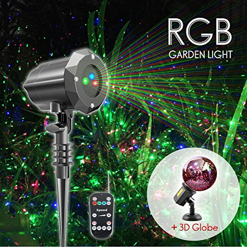 Poeland Laser Christmas Lights Projector with 3D Glass Globe for Christmas and Holiday by Poeland