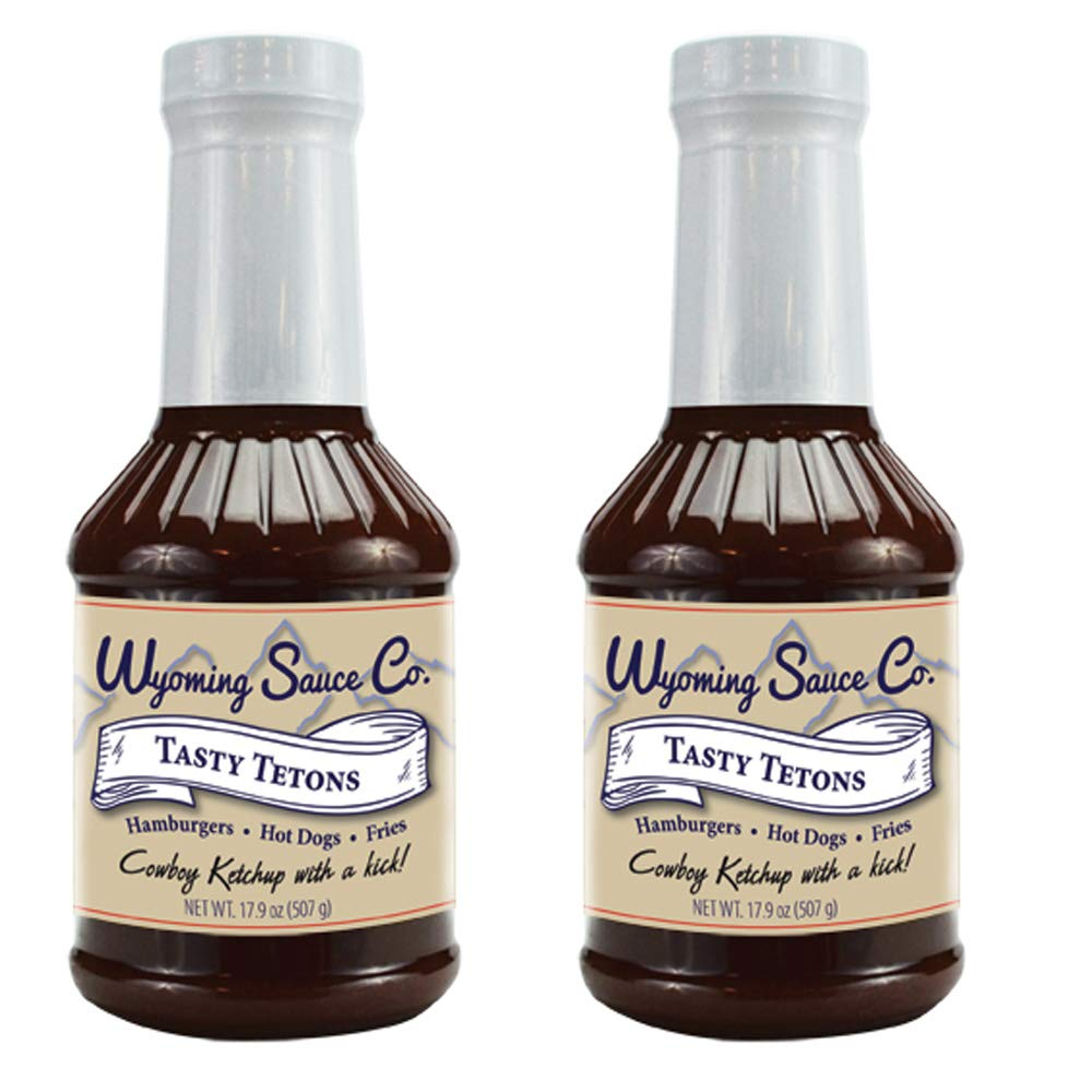 Wyoming Sauce Co Premium Tasty Tetons Kethcup 3 Pack, Great for Grilling with Hotdogs, Brats, Wings, Unique Gourmet Tomato Ketchup Deli Taste, Single Bottle of Sauce, Salsa de Tomate