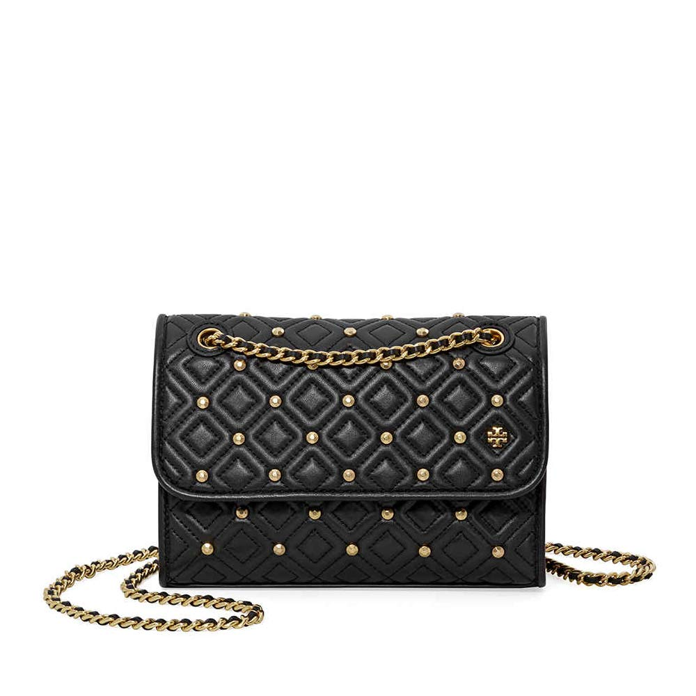 8713cae12307 Tory Burch Fleming Convertible Small Leather Shoulder Bag (Stud Black)   Amazon.co.uk  Shoes   Bags
