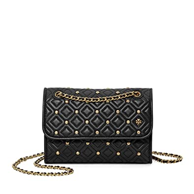 ebf0ec1f4c70 Tory Burch Fleming Convertible Small Leather Shoulder Bag (Stud Black)   Amazon.co.uk  Shoes   Bags