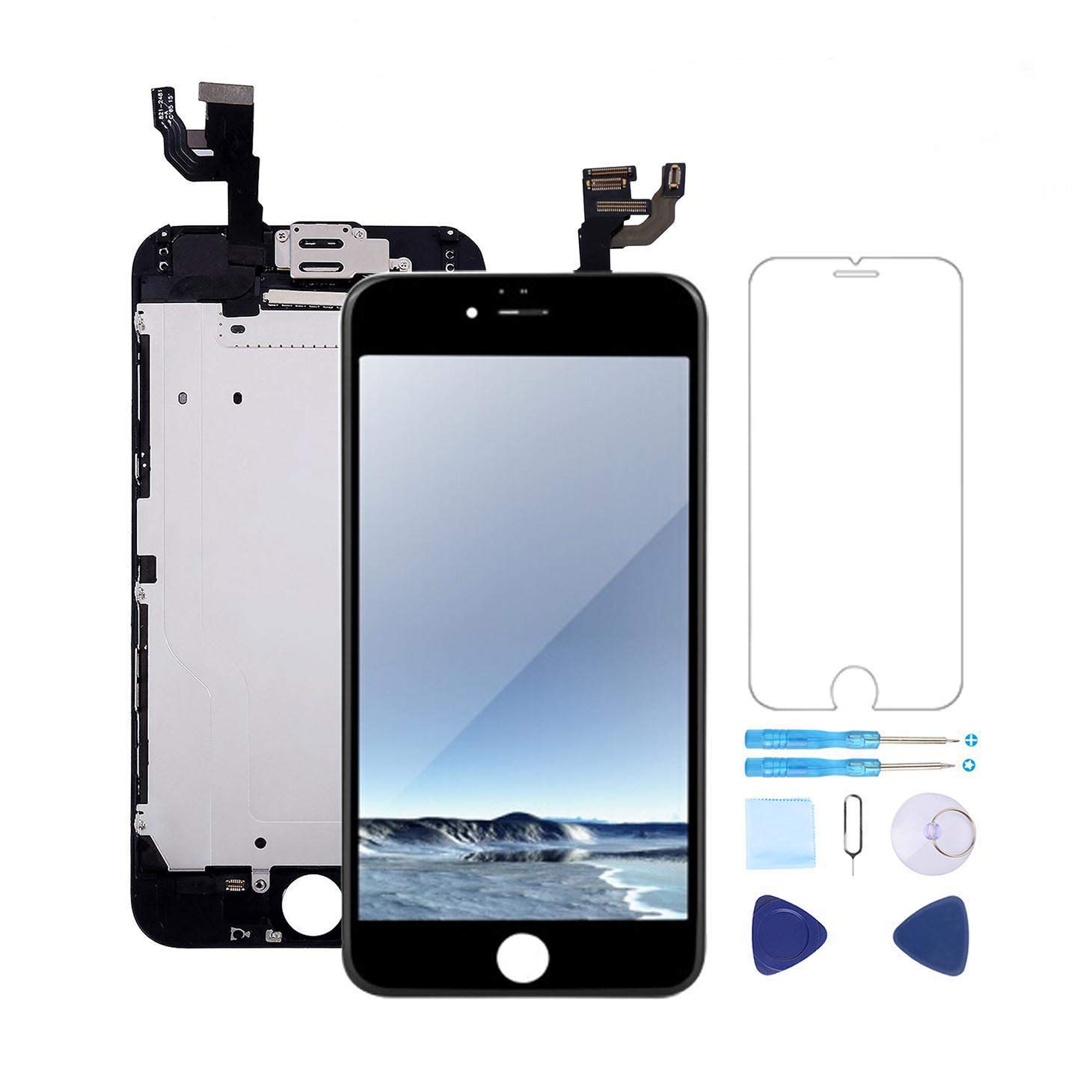 buy popular 506a2 fa81f Screen Replacement for iPhone 6 Plus Screen Replacement Black 5.5