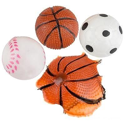 Rhode Island Novelty Dozen Splat Sport Ball Assortment: Toys & Games