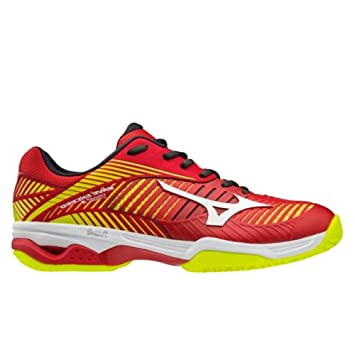 timeless design e496e daa26 Mizuno Men Wave Exceed Tour 3 Cc Men Tennis Shoes Clay Court Shoe Red -  Yellow