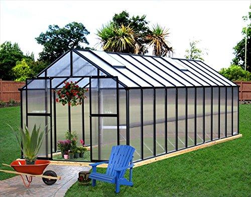 Monticello Premium Kit Greenhouse 24FT Black