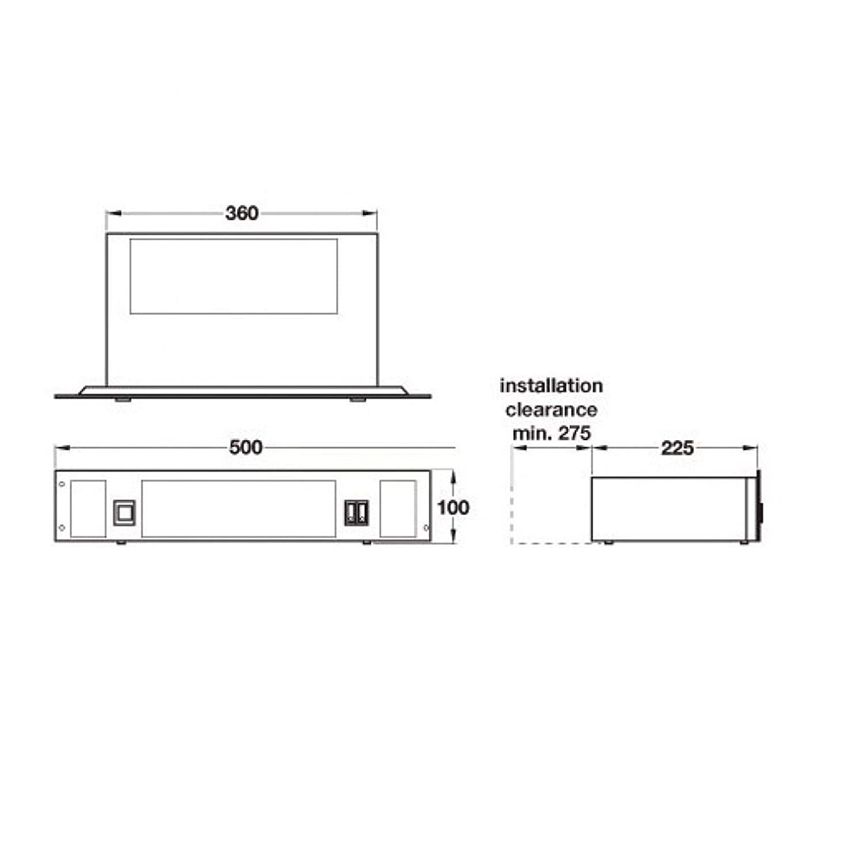 Cda Aph01ss Stainless Steel Plinth Heater Large 7 Pin Plug Wiring Diagram Uk Appliances