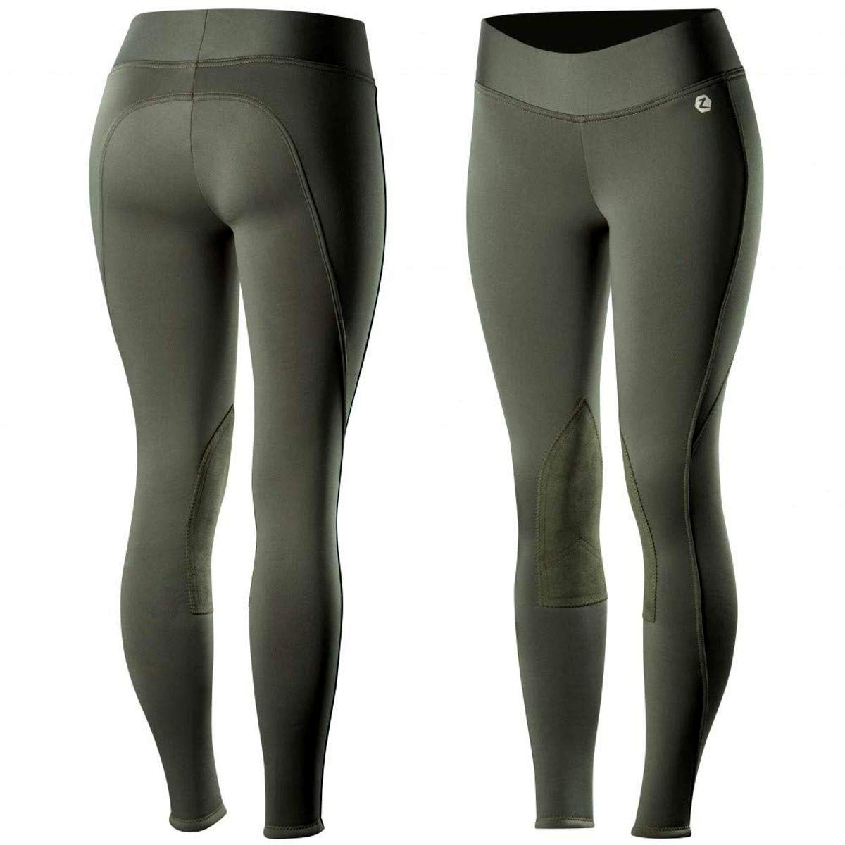 Horze Active Womens Knee Patch Winter Tights
