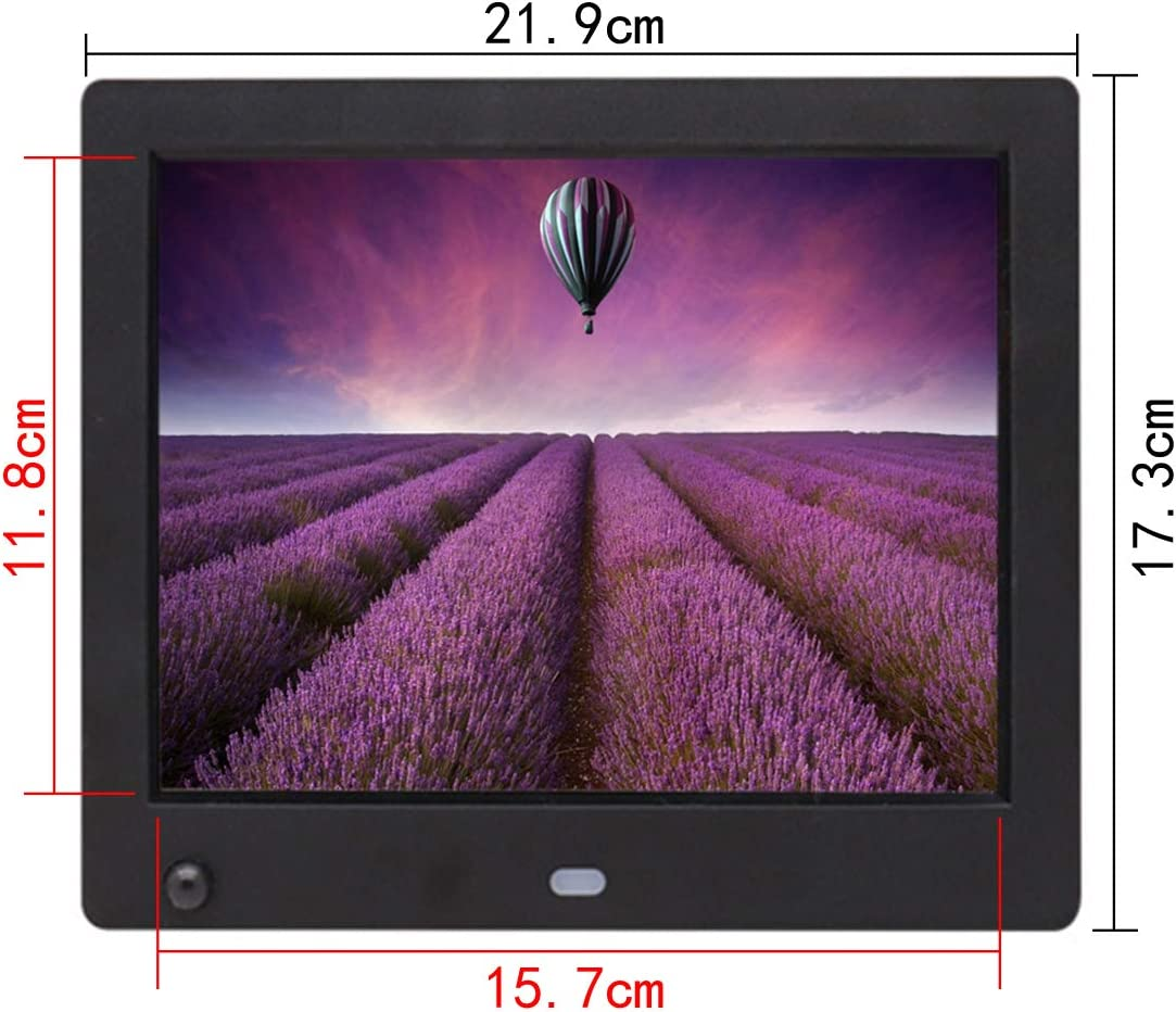 Digital Photo Frame 1024 /× 768 Resolution Multi-Function Electronic Photo Frame 8-inch Advertising Player with Human Body Sensing Function
