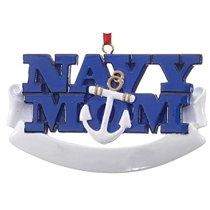 Personalized Navy Mom Christmas Tree Ornament 2019 Mothers Of Sailors Armed Forces Fighter Anchor Naval Military Brave Proud Pray Patriotic Usa Year