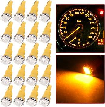 cciyu T5 58 70 73 74 Instrument Panel Gauge Cluster Dashboard LED Wedge Light Bulb,20Pack