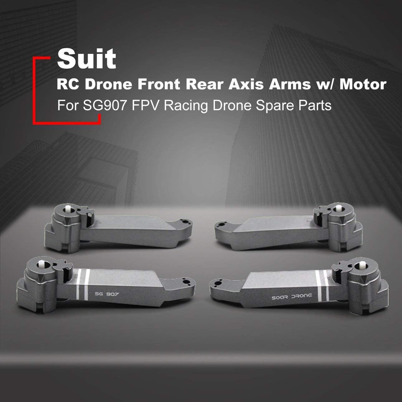 Ballylelly RC Drone Front Rear Axis Arms con Motor para SG907 FPV Racing Drone Frame Reemplazo de Piezas de Repuesto Accesorio
