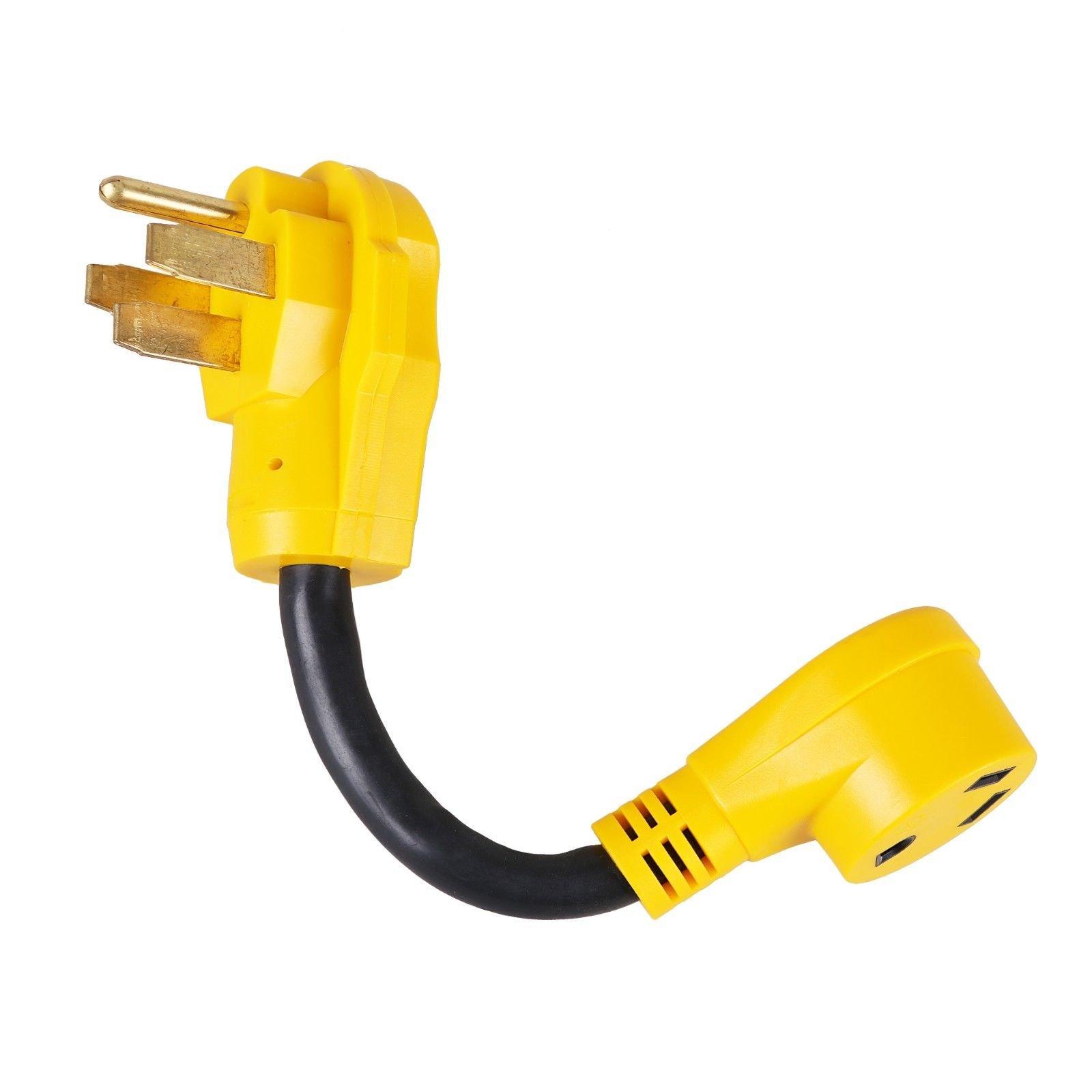 Epicord 12'' RV Dogbone Power Adaptors 50A Male to 30A Female 10AWG Cord