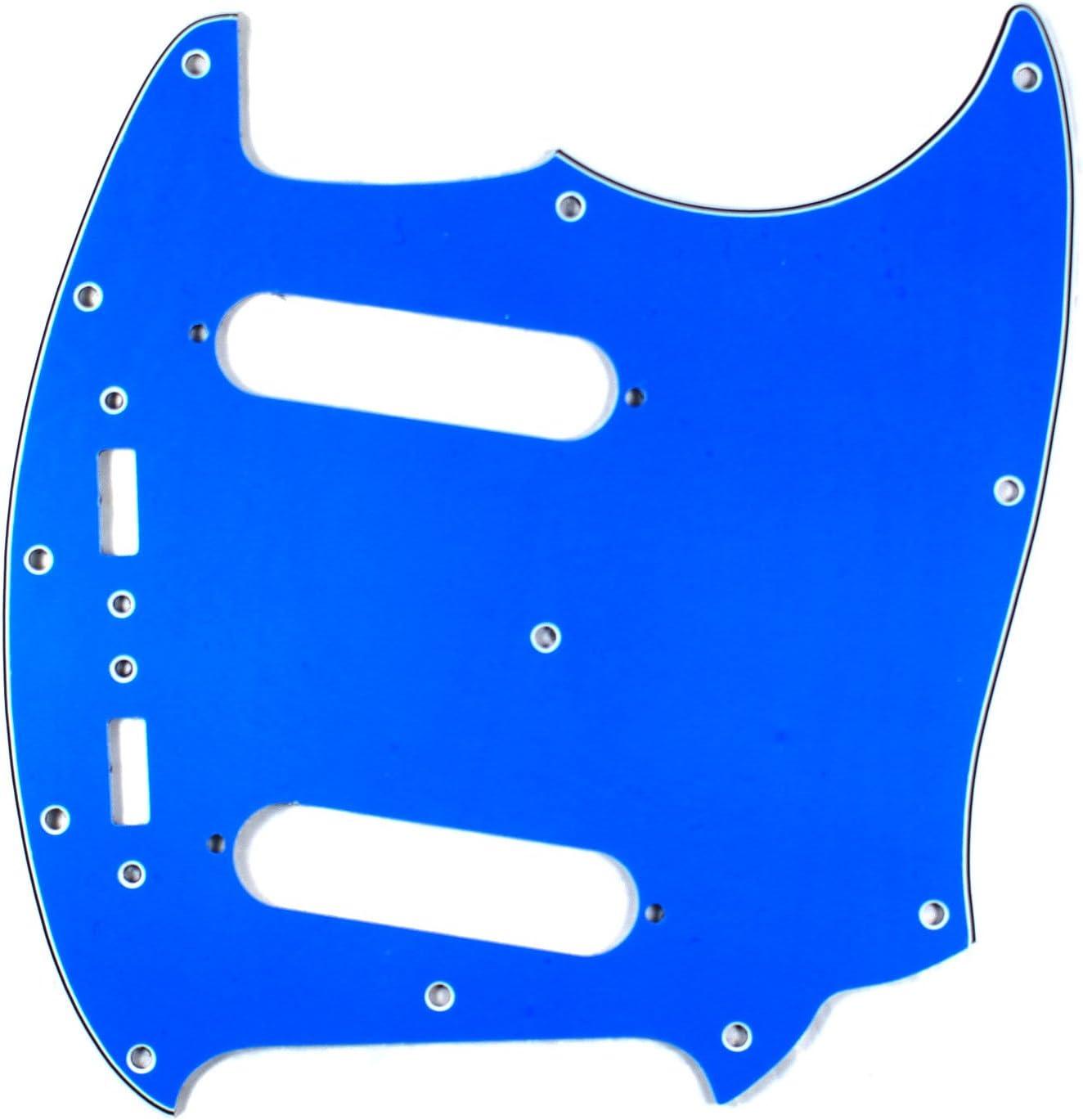 (E76) Custom Guitar ピックガード fits Mustang Style Classic Series, 4Ply Blue アコースティックギター アコギ ギター (並行輸入)