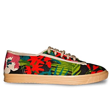 Startas Women's Jungle Boogie Floral Fashion Sneakers: Amazon.co ...