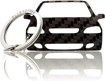Blackstuff Carbon Karbonfaser Schlüsselanhänger Kompatibel Mit Astra G 1998 2004 Bs 793 Auto