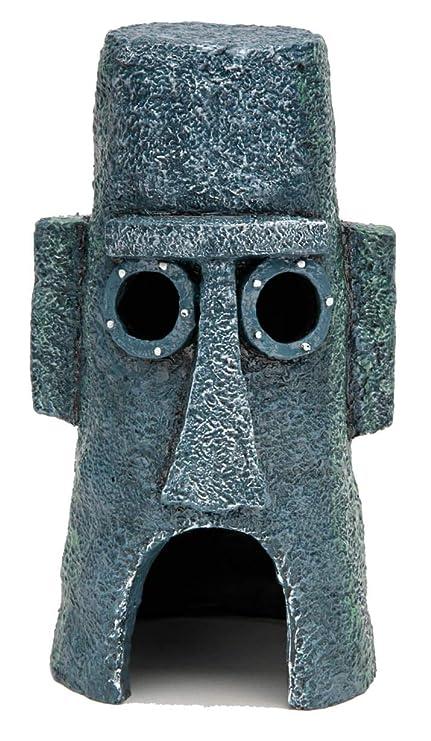 Amazoncom Penn Plax Squidwards Easter Island Home Ornament