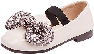 ✿luoluoluo ✿Chaussons Bébé Princesse Étudiant Chaussures Simples Enfants Infant Enfant en Cuir Filles Bling Bowknot Semelle Souple antidérapante Bébé Fille Chaussures Bébé Garçon 0-6 Mois &agra