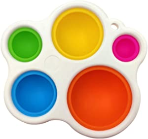 CQCYD Fidget Dimple Toy丨Food Grade Silicone Sensory Toys丨Stress Relief Hand Toys for Kids and Adults,Easy-to-use and Addictive Decompression,Soft Silicone Ergonomic Fidget Toy for Kids Adults
