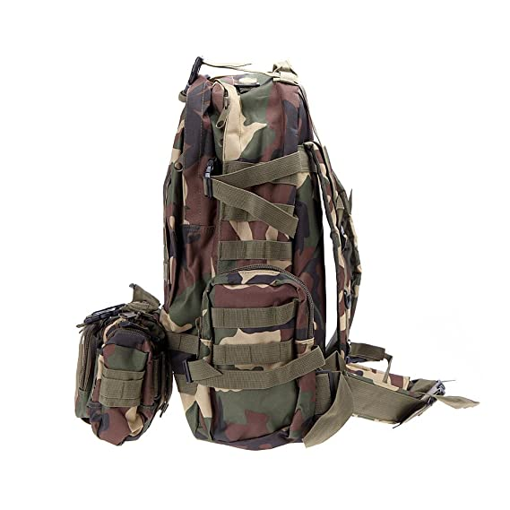 Amazon.com : Outdoor Camping Hiking Mens Backpacks Trekking Sport Women Backpack Mochilas Travel Bags Military Tactical Backpack Rucksacks Color Camouflage ...