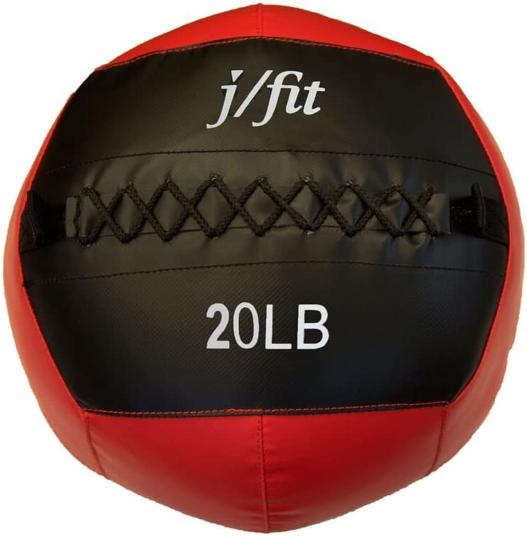 j/fit Medicine Ball, Red/Black, 20-Pound : Sports & Outdoors