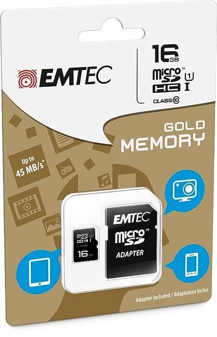 Amazon emtec 16 gb class 10 mini jumbo extra microsdhc memory emtec 16 gb class 10 mini jumbo extra microsdhc memory card with adapter reheart Choice Image