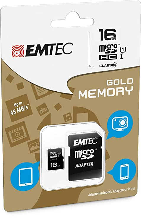Amazon.com: Emtec 8 GB Clase 10 Mini Jumbo Extra MicroSDHC ...