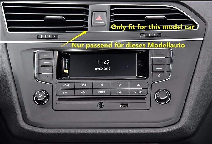 Manillar Izquierdo Interior ABS Mate Rejilla de ventilaci/ón 1 Pieza Consola de Aire Acondicionado CarAutotrim para Tiguan MK2 2017 2018 2019