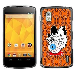 LG Nexus 4 E960 - Metal de aluminio y de plástico duro Caja del teléfono - Negro - Halloween Abstract Pattern