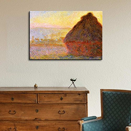 Claude Monet Haystacks in Morning Light Impressionist Art